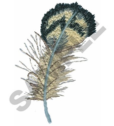 QUAIL FEATHER embroidery design