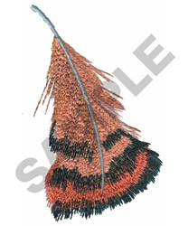 PHEASANT FEATHER embroidery design