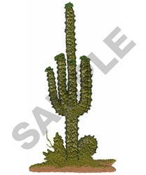 CACTUS embroidery design