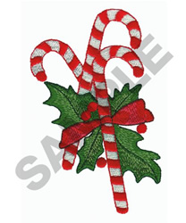 CANDY CANES embroidery design