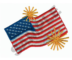 UNITED STATES FLAG embroidery design