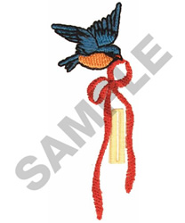 BIRD BUTTON HOLE embroidery design