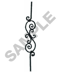 WROUGHT IRON BORDER embroidery design