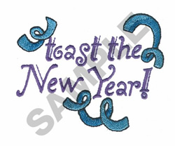 TOAST THE NEW YEAR embroidery design