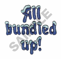 ALL BUNDLED UP! embroidery design