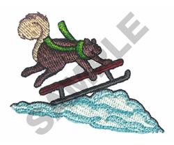 SQUIRREL SLEDDING embroidery design