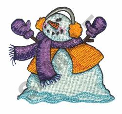 SNOWMAN IN EARMUFFS embroidery design