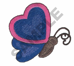 BUTTERFLY HEART embroidery design