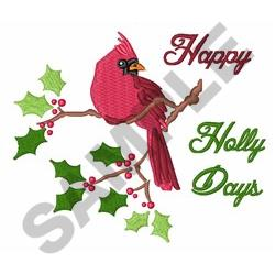 Happy Holly Days embroidery design