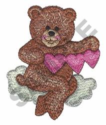 CHERUB BEAR ON CLOUD embroidery design