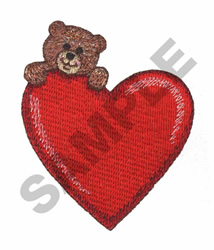BIG-HEARTED BEAR embroidery design
