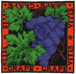 GRAPE embroidery design