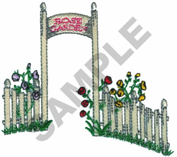 ROSE GARDEN FENCE embroidery design