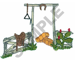COUNTRY FENCE embroidery design