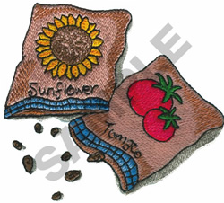 SEED PACKETS embroidery design