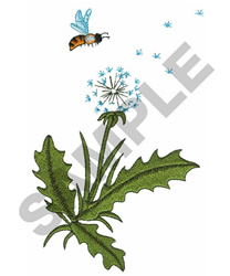 FLOWER AND BEE embroidery design