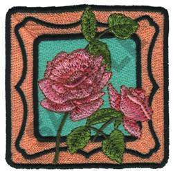 FRAMED FLOWER embroidery design