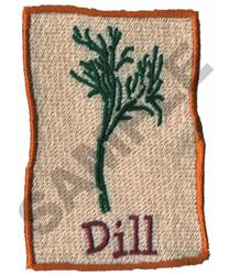 DILL embroidery design