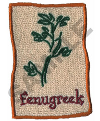 FENUGREEK embroidery design