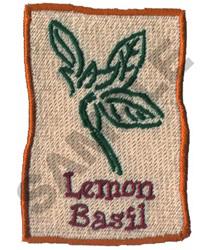 LEMON BASIL embroidery design