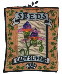 LADY SLIPPER embroidery design