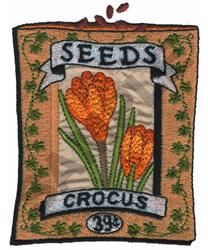 CROCUS embroidery design