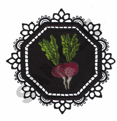 GARDEN LACE BEETS embroidery design