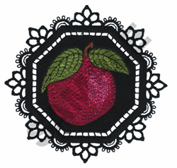 GARDEN LACE APPLE embroidery design