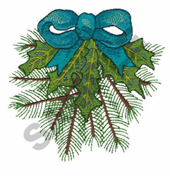 HOLLY & EVERGREEN embroidery design