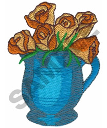 FLOWERS IN JUG embroidery design