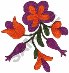 FLORAL TAPESTRY embroidery design