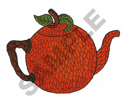 ORANGE TEAPOT embroidery design