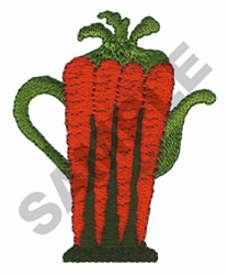 CARROT TEAPOT embroidery design