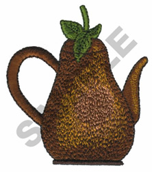 PEAR TEAPOT embroidery design