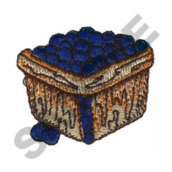 BASKET OF GRAPES embroidery design
