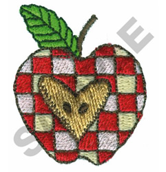 CHECKERED APPLE embroidery design