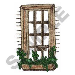 WINDOW HERB GARDEN embroidery design