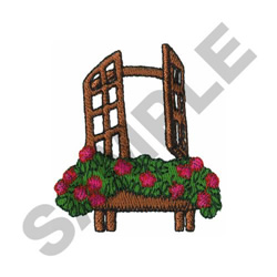 WINDOW FLOWER BOX embroidery design