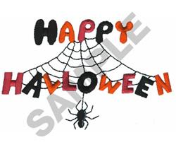 HAPPY HALLOWEEN SPIDER embroidery design