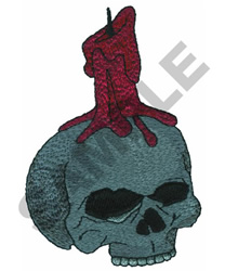SKULL WITH A CANDLE embroidery design