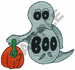 BOO GHOST embroidery design