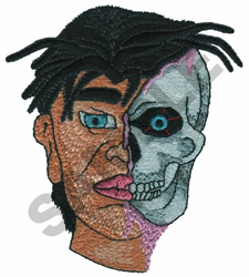 TWO FACE embroidery design