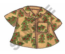 HAWAIIAN CHRISTMAS SHIRT embroidery design