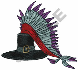 PILGRIMS HAT & HEAD DRESS embroidery design
