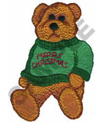 MERRY CHRISTMAS BEAR embroidery design