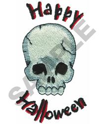 HAPPY HALLOWEEN SKULL embroidery design