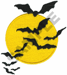 BATS FLYING AT NIGHT embroidery design