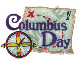 COLUMBUS DAY embroidery design
