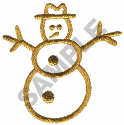 METALLIC SNOWMAN embroidery design