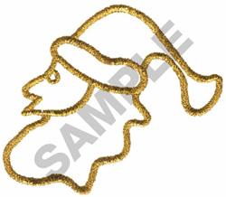 METALLIC SANTA embroidery design